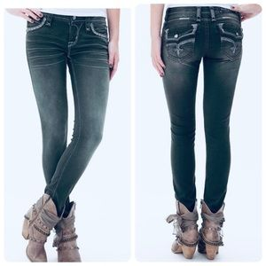 Rock Revival Eleanor Black Stretch Skinny Jeans 32